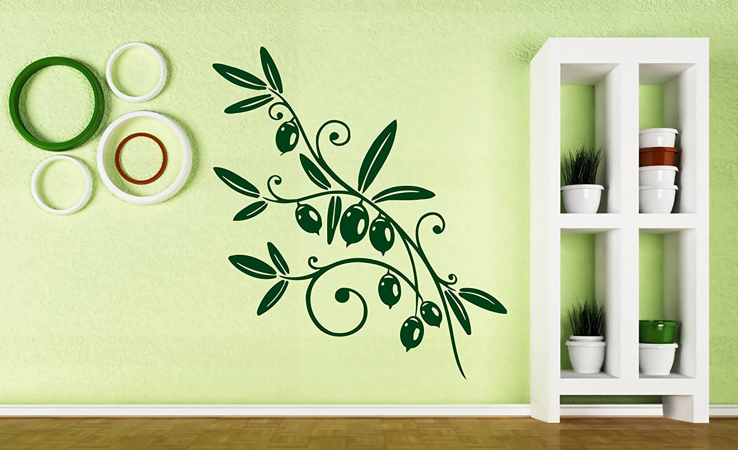 Amazon.com: Vinyl Decal Nature Wall Sticker Olive Branch Olive Oil ...