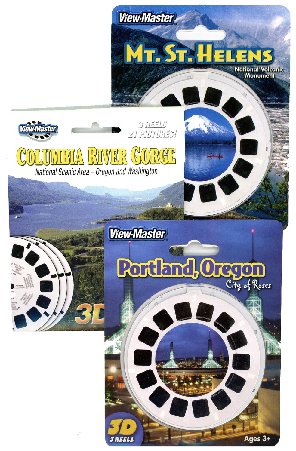 Mt. St. Helens - Columbia River - Portland - Triple Vintage ViewMaster Set - 9 Reels by 3Dstereo ViewMaster (Image #1)
