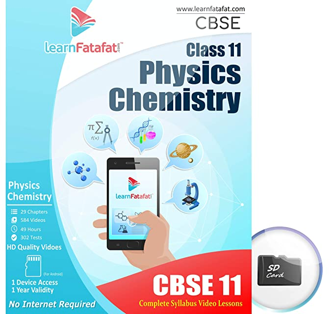 CBSE Class 11 Physics and Chemistry Video Course (SD Card): Amazon