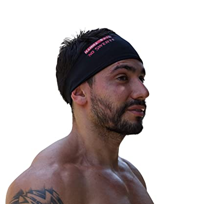 b6e8994f6818 MammaSays No Sweat Men and Womens Elastic Sports Headband   Sweatband   Ear  Warmer for Workouts