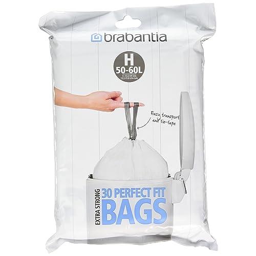 Brabantia 375705 Distributeur de Sacs Poubelles Poignées Coulissantes - 30 Sacs 50-60 L Blanc