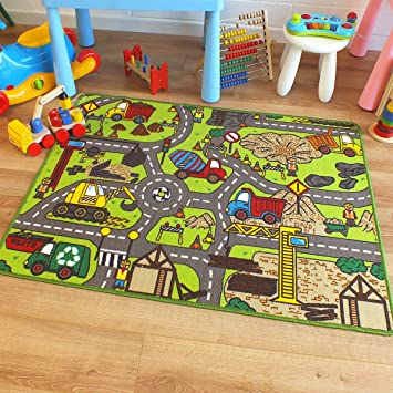 Superb Kids/Childs Rug Construction Site Road Map Play Mat 100cm x on road map desk, road map wallpaper, road map book, road map clock, road map tablecloth, road map dress, road map design, road map light, road map clothing, road map jewelry, road map blanket, road map quilt, road map decor, road map fabric, road map computer, road map pin, road map wall, road map bed, road map banner, road map to college,