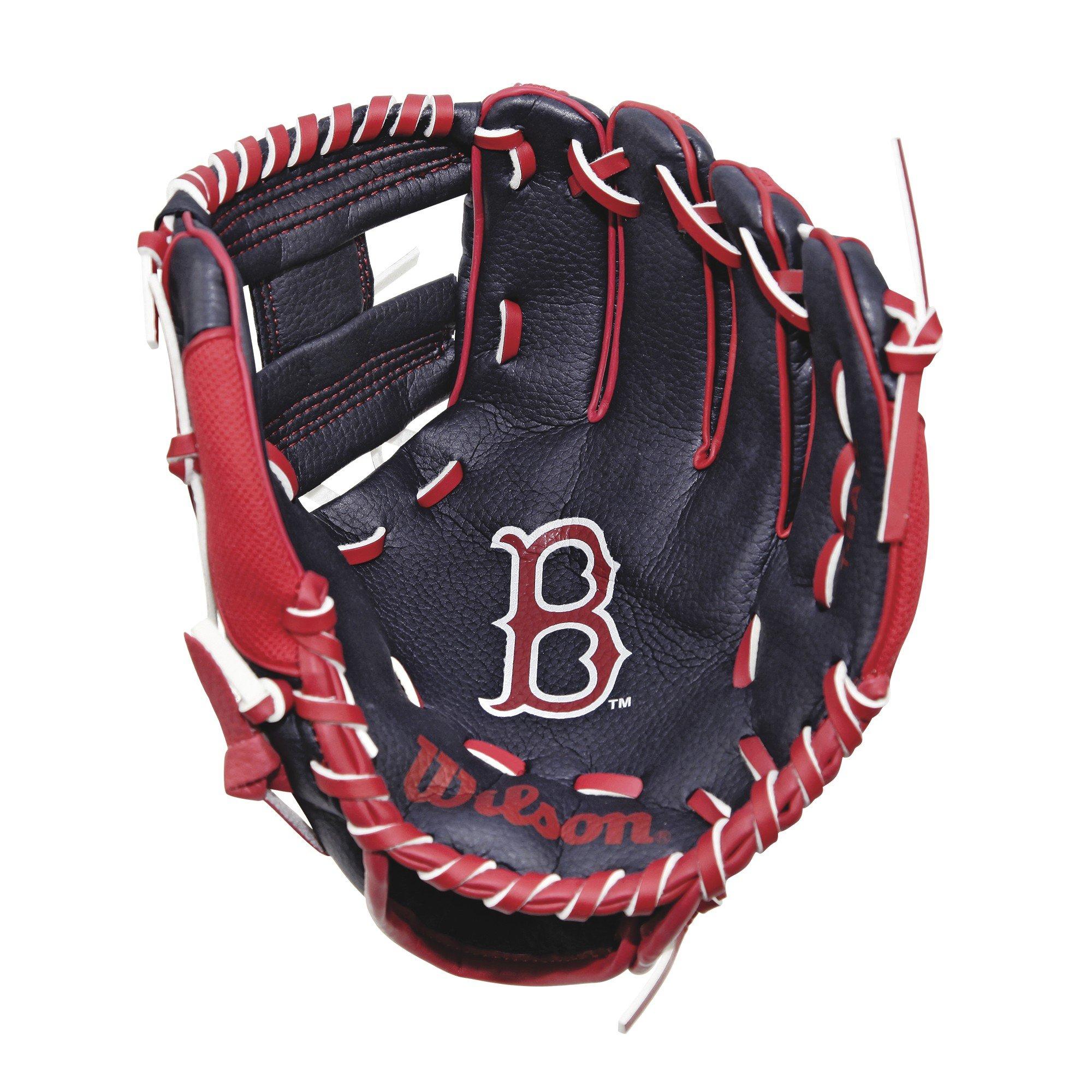 Wilson A0200 Boston Red Sox Baseball Gloves, 10''