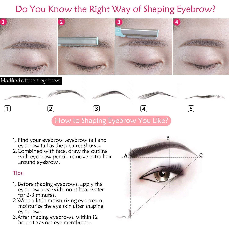Amazon Women Eyebrow Trimmers Razor Facial Shaver Face