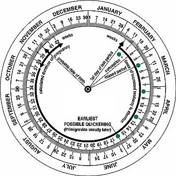 Pregnancy Calculator Wheel, Nurses, Midwifery