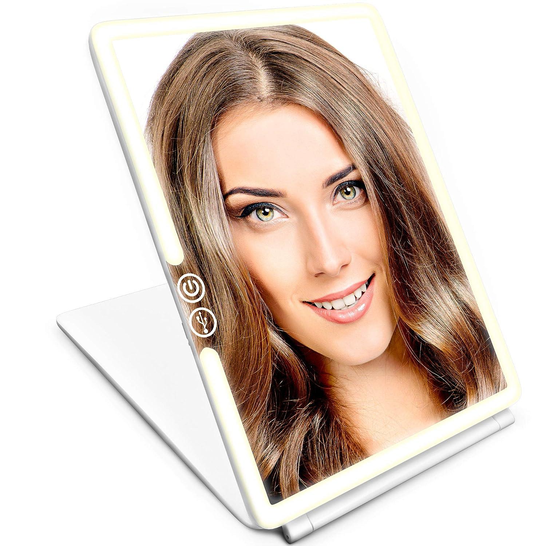 IKproductpro Makeup Mirror - LED Makeup Mirror - Vanity Mirror - LED Lighted Makeup Mirror - LED Vanity Mirror Light - Womens Makeup Mirror - Cosmetic Mirror for Women Mirage Overseas Ltd.