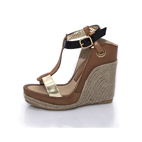 diseño de calidad 9299c 48d8c MTBALI - Espadrille Wedge Sandals, Woman- Model Nor: Amazon ...