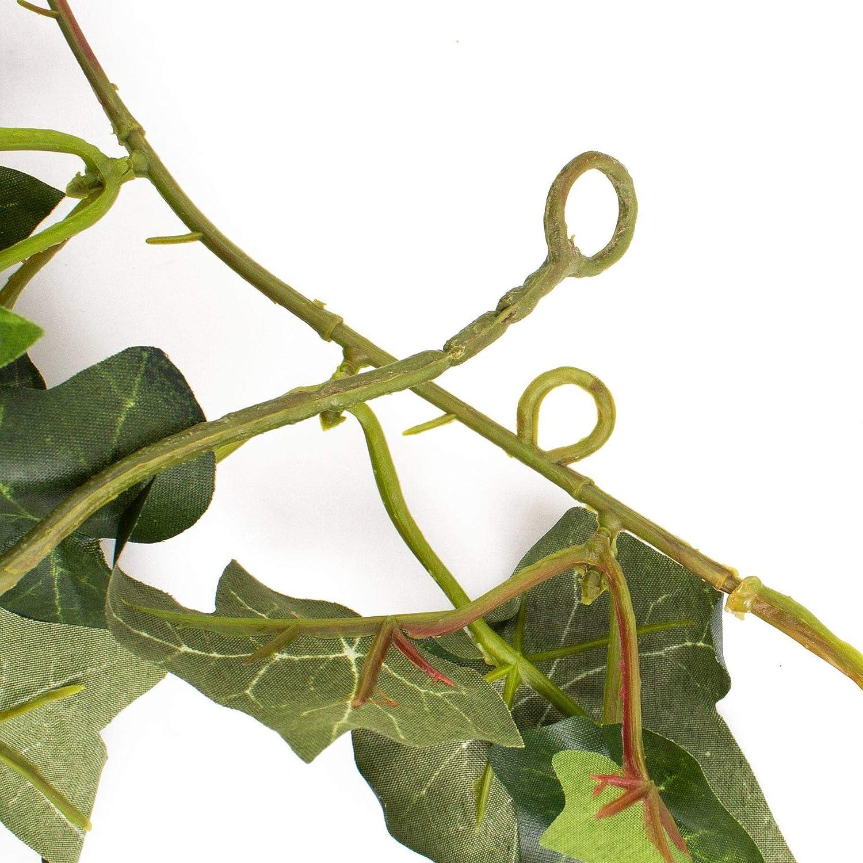 180cm Feuillage Artificiel Guirlande de Feuilles artificielles 171 Feuilles artplants.de Guirlande de Lierre Artificielle Elena Vert