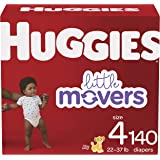 Diapers Size 4 - Huggies Little Movers Disposable Baby Diapers, 140ct, One Month Supply
