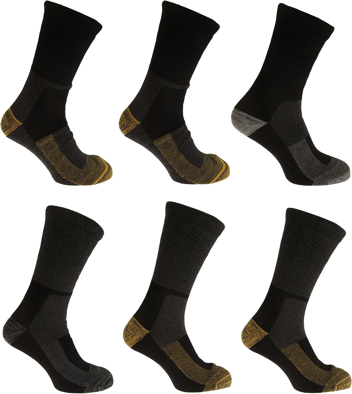 Severyn Calcetines térmicos para trabajar con lana hombre/caballero - Pack de 6 Pares de calcetines (39-45 EUR) (Diseño 3): Amazon.es: Ropa y accesorios