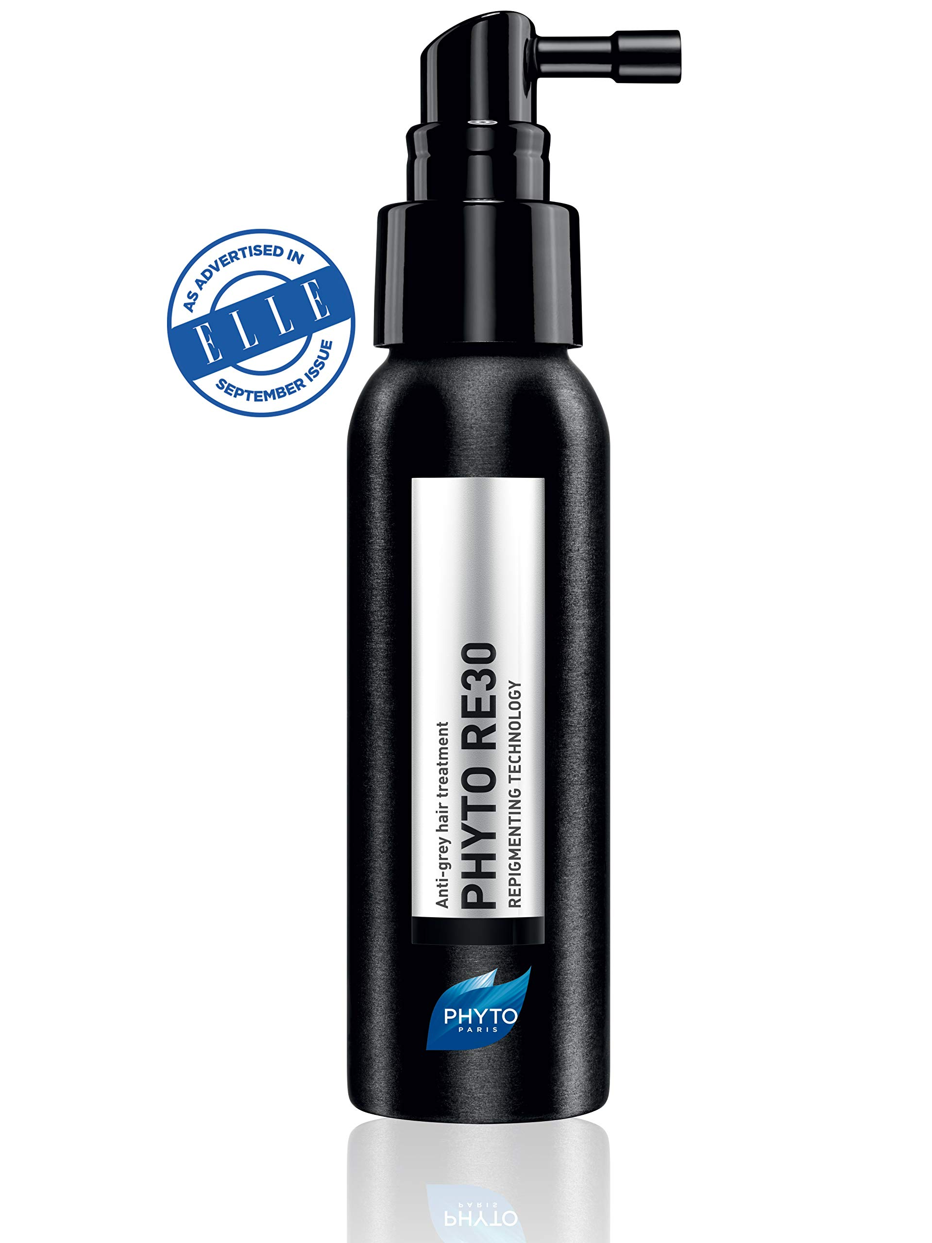 PHYTO RE30 Anti-Grey Hair Treatment Spray | Delays & Reverses Grey Hair| No Coloring Pigments, Repigments at the Root, Boosts Melanin, Stronger & Softer Hair | Keratin | Sulfate Free, Paraben Free