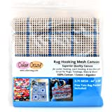 "Rug Hooking Mesh Canvas - 3.75 Mesh (44"" x 60"") with Free Pattern"