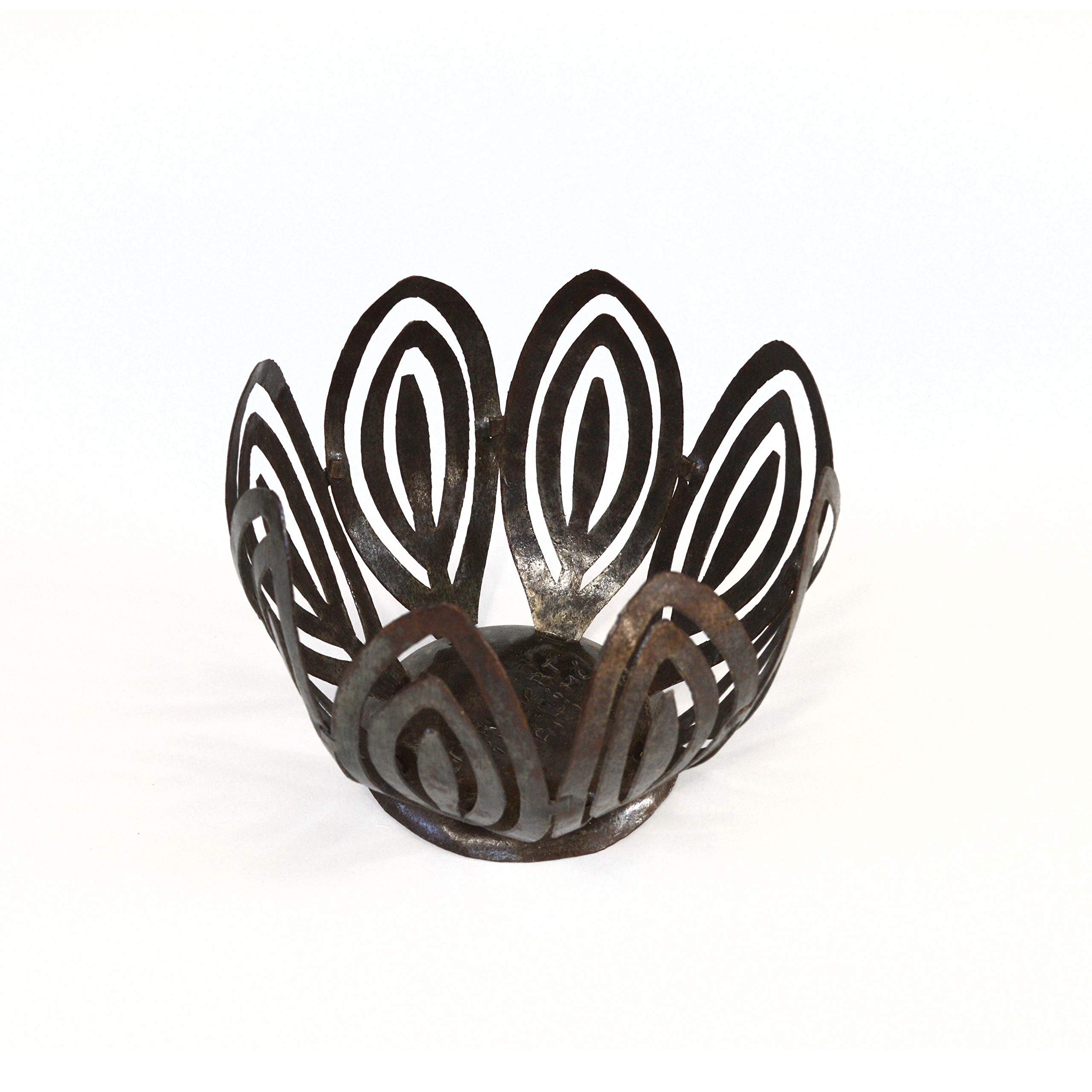 Caribbean Basics Steel Drum Fruit Bowl,Candle Holder by Caribbean Basics