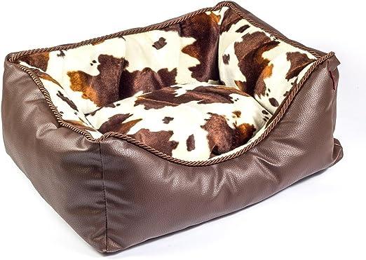 Boutique Zoo – Elegante Cama para Perros/marrón con Costura, Piel sintética/Cama para Perros para pequeñas/Medianas/Perros Grandes | sofá, Perros – Cojín para Perros | XS, S, M, L, XL, XXL, XXXL: Amazon.es: