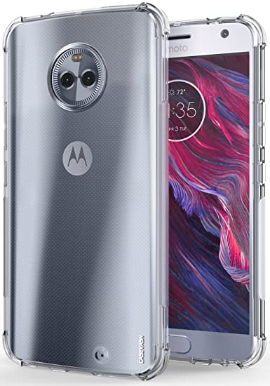best service 32b65 a2ffb Moto X4 Case, CASEVASN [Shockproof] Anti-Scratches Flexible TPU Gel Slim  Fit Soft Skin Silicone Protective Case Cover for Motorola Moto X4 (Clear)