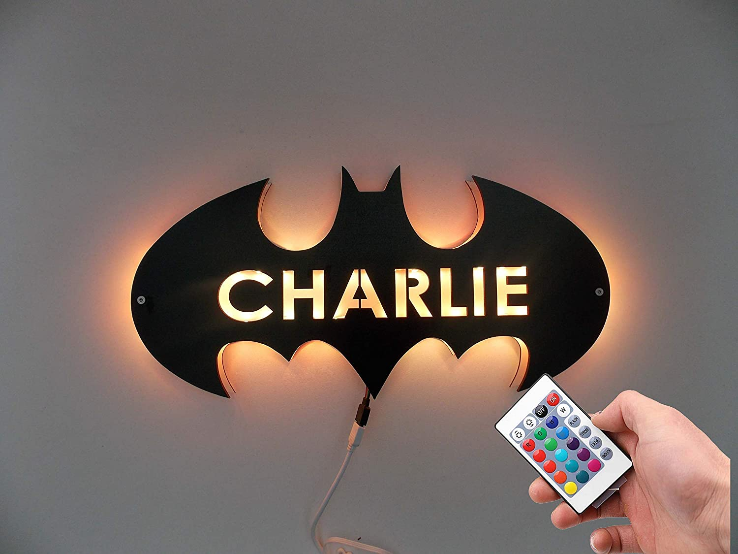 Batman Sign Led Light,Batman Night Light,Batman Wall Light,Batman Wall Decor,Batman Gift for Kids,Boys and Men
