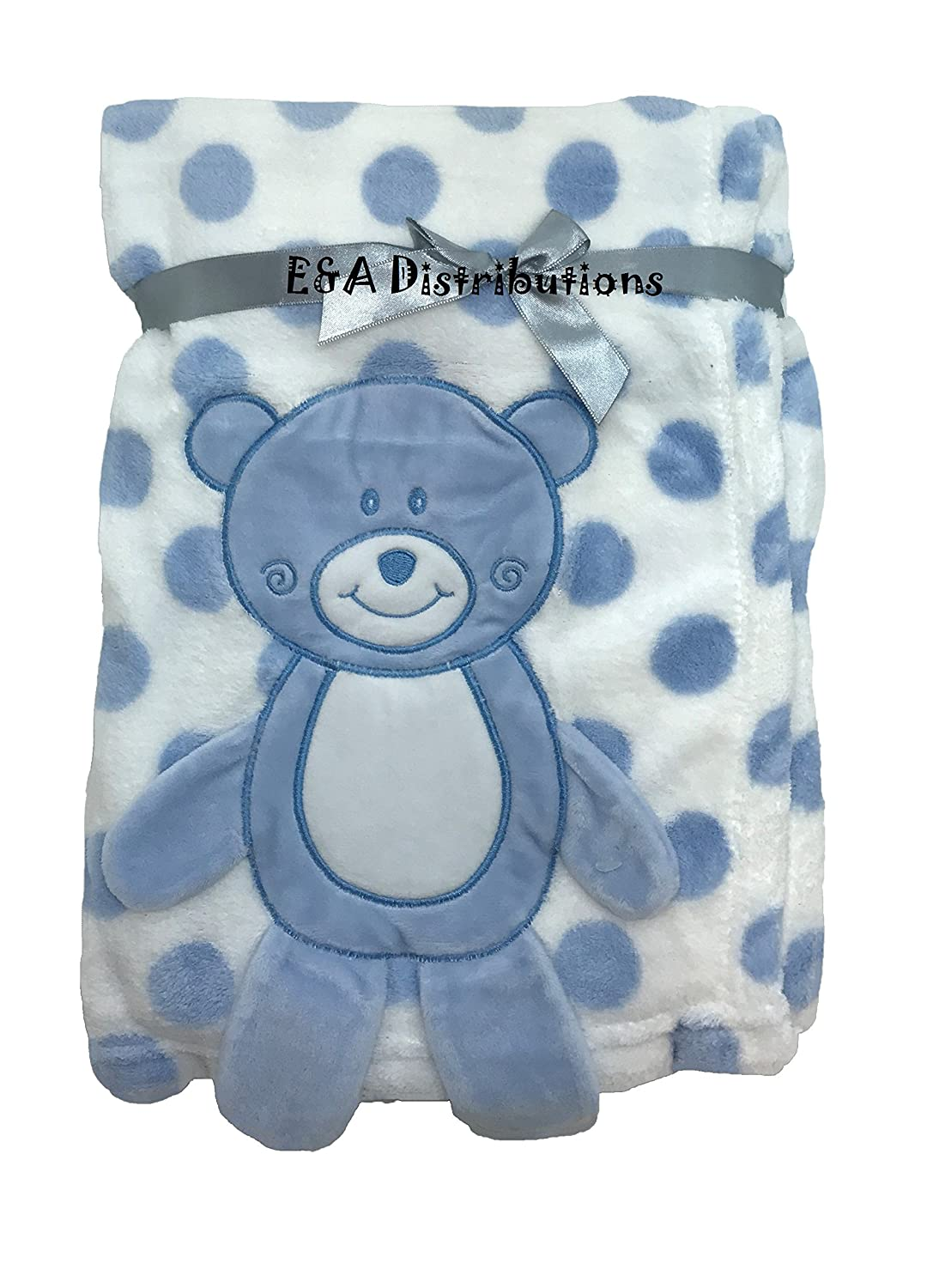 3D Blue Teddy Blanket