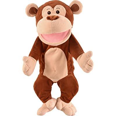 Fiesta Crafts Monkey Moving Mouth Hand Puppet - Big: Toys & Games