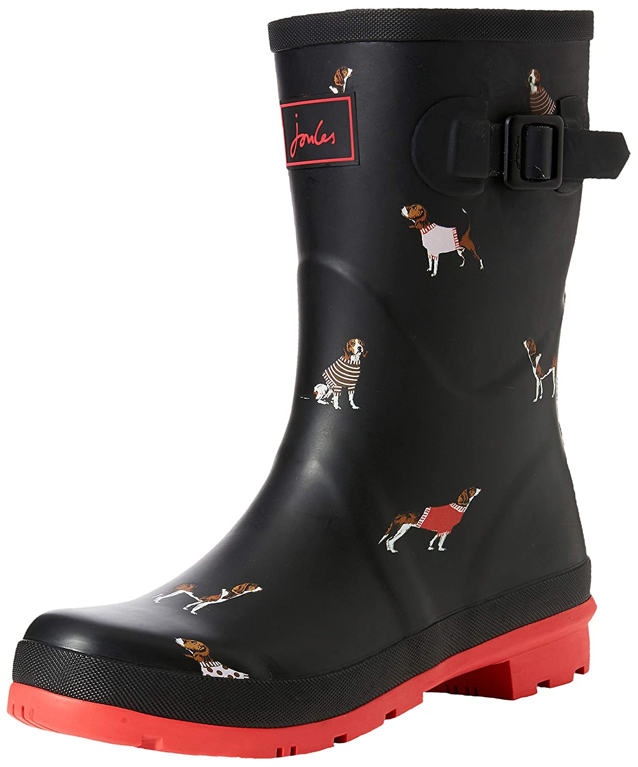 Black Jumper Dog Joules Women's Molly Welly Rain