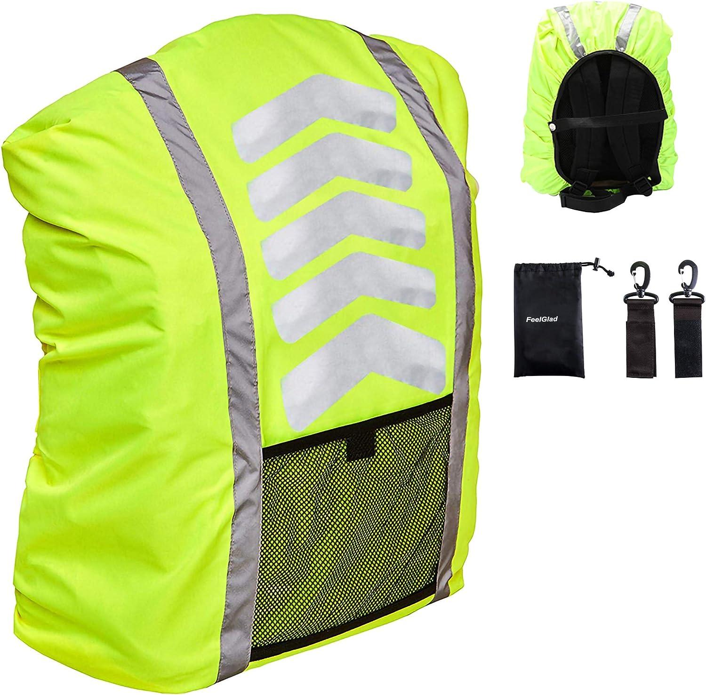 AUPERTO Reflektorstreifen Wasserfester Regenschutz Rucksack/überzug Regenschutz f/ür Schulranzen mit Verstellschnalle f/ür 25 bis 40 Litern Camping Wandern Backpack Rucksack