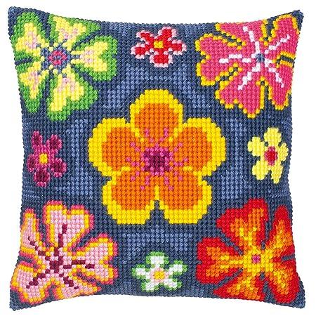 Vervaco - Kit para cojín de Punto de Cruz, diseño de Flores ...