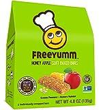 FreeYumm - Honey Apple Soft Baked Bars - 15 Individually Wrapped Bars - Allergen Free - Gluten Free - School Friendly
