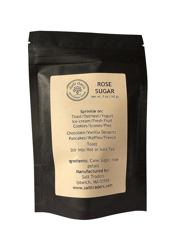 didi davis food Rose Flavored Cane Sugar - 5 oz Rice Paper Zip Bag