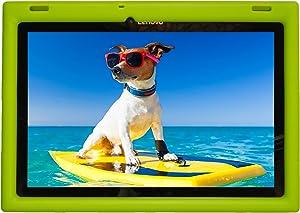 BobjGear Bobj Rugged Case for Lenovo 10 TB-X103F and Tab 2 A10-30, Tab2 X30F Custom Fit - Patented Venting - Sound Amplification - BobjBounces Kid Friendly (Gotcha Green)