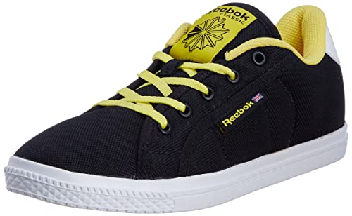 39af771cc7bb Image Unavailable. Image not available for. Colour  Reebok Classics Women s  ON Court III LP Black and Yellow Canvas Sneakers ...