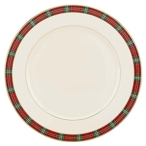 Amazon lenox winter greetings plaid dinner plate kitchen dining lenox winter greetings plaid dinner plate m4hsunfo