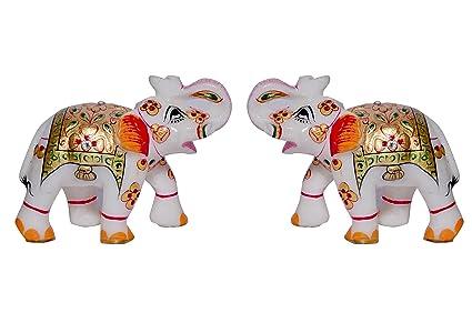 Vaah Marble Elephant Pair