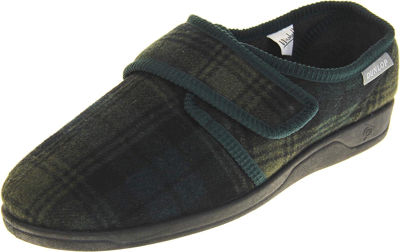 Dunlop Zapatillas de Estar por Casa de Hombre Toque de Fijación