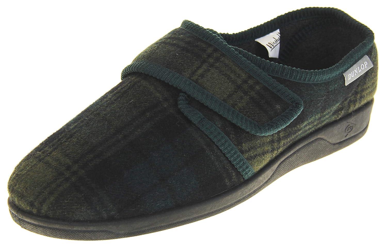 TALLA 43 EU. Dunlop Zapatillas de Estar por Casa de Hombre Toque de Fijación