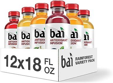 Bai Rainforest Variety Pack, Antioxidant Infused Beverage, 18 Ounce (Pack of 12): Amazon.es: Alimentación y bebidas