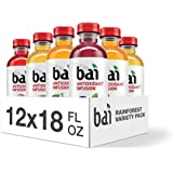 Bai Flavored Water, Rainforest Variety Pack, Antioxidant Infused Drinks, 18 Fluid Ounce Bottles, 12 Count, 3 Each of Brasilia