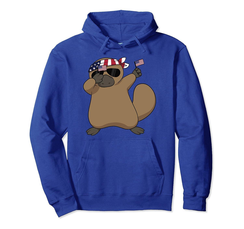 American Pride Platypus USA Dabbing Funny Hoodie-AZP