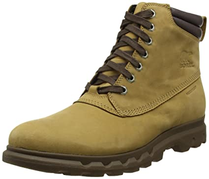 SOREL Men's Portzman Lace Buff/Hawk Ankle-High Boot ...