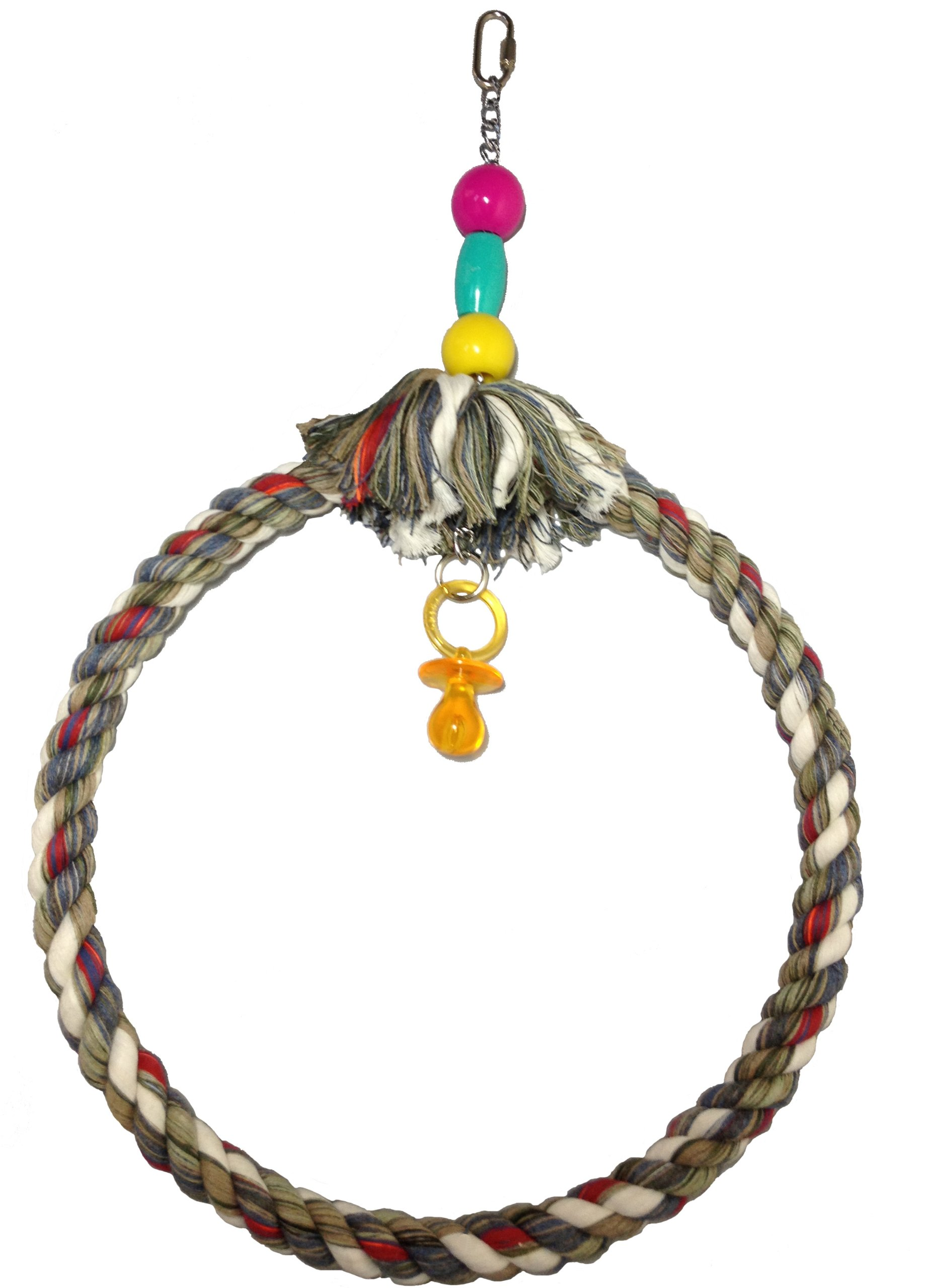 FeatherSmart Parrot Bird Rope Swing (Large by FeatherSmart Parrot Bird Rope Swing