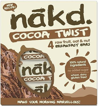 Nakd barras nutritivas chocolate avena - sin gluten, sin lactosa ...