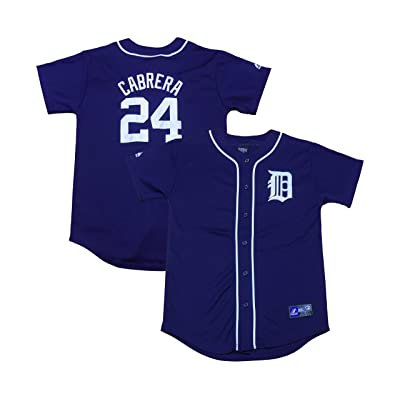promo code 283f8 5d4fd OuterStuff Miguel Cabrera Detroit Tigers #24 Navy Blue Youth ...