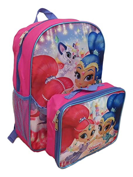 "Pink Heart 16/"" Backpack With Detachable Lunch Bag"