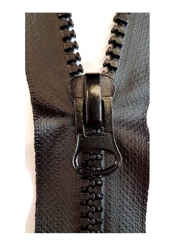 Keine Angabe Cerniera divisibile Vislon 8 mm Robusta * Impermeabile * 70 cm Nero