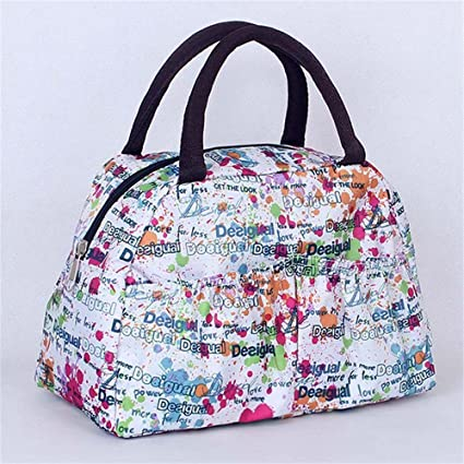 bff811a1b0 Style11   New Floral Pattern Insulation Lunch Bag Lunch Bag of Ice Packs  Waterproof Student Lunch Box Bags with Rice for Lunch Bag Tote  Amazon.in   Home   ...