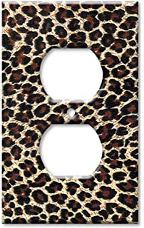 Art Plates   Leopard Print Switch Plate   Outlet Cover