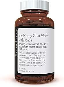 10X Horny Goat Weed Extract (3750mg) Maca Extract (2500mg) x 180 Tablets - 10 X More Icariins and Maca - and 5mg Black Pepper Extract for 300% Increased Absorption: SKU: HGWM