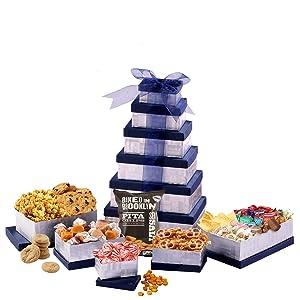 Broadway Basketeers Happy Birthday Celebration Chocolate Gift Tower