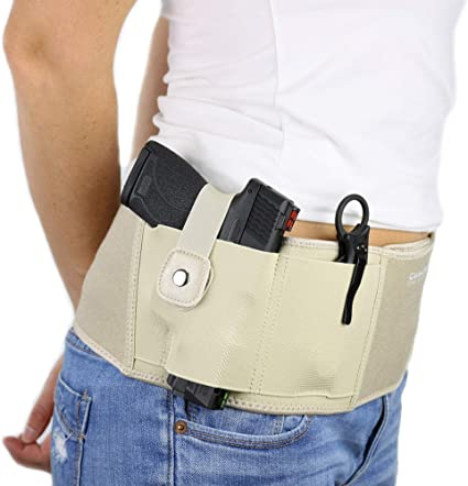 Concealed Carry Belly Band Holster For Left//Right Gun Pistol Bodyguard Holster