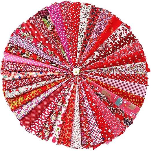 Raylinedo - Juego de 40 telas precortadas de algodón con forma ...