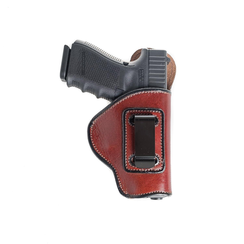 Inside theパンツ( IWB )ソフトレザーホルスターSig Sauer p230。スーパーソフト快適なレザーfor Conceal Carry。 B077X114KV  ブラウン Left Hand