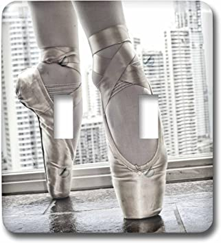 3d Rose Lsp 219708 2 Ballerina In Pointe Shoes With Buildings Behind Double Toggle Switch Amazon Com